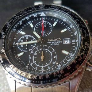 Seiko 7T92-0CF0 A0  Pilot Flightmaster Chronograph Watch for Men Junk
