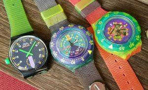 Swatch Quartz 3 Watches Stop Watch Diving Set