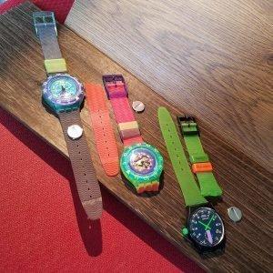 Swatch Quartz Analog Junk Set of 3 Watches Junk for Parts