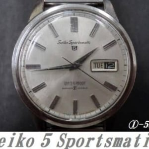 Seiko 6619-8970 Sportsmatic 5 21 Jewels Automatic Day Date Watch for Men