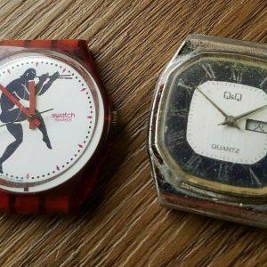 Swatch Dials Set of 2 Quartz Watch Not Working Junk ARS
