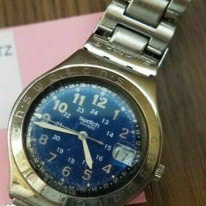 Swatch Irony Blue Face Swiss Made Date Quartz Analog Watch for Men