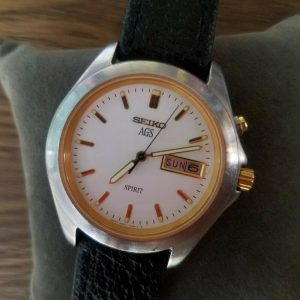 Seiko 5M23-7A70 AGS SPIRIT Day Date Watch for Men Junk