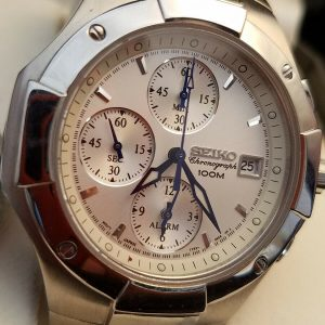 Seiko 7T62 Module 0DP0 100M Chronograph Watch For Men