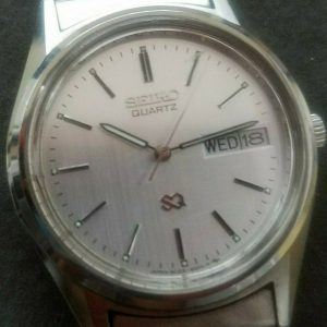 Seiko 8C23-6000 Silver Face Metal Body Watch For Unisex
