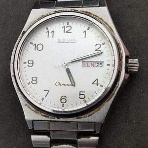 Seiko 010435 Chrono Quartz Day Date Watch For Men