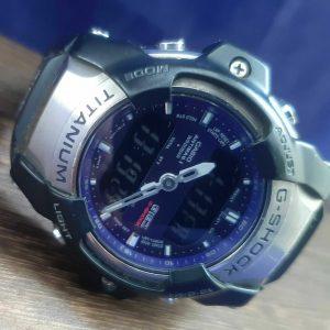 G Shock Giez GS 300 Titanium Module 2301 Blue Screwback Watch For Men