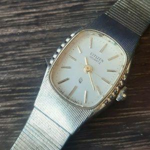 Vintage Citizen GP4-105842 Gold Color Quartz Face Watch for Women