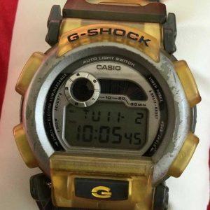 G Shock DW 003 Module 1647 G Lide Digital Watch for Men Jelly Yellow Gray