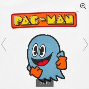 GU × Pacman game 1980 Men`s Graphic t-shirt color From GU japan size: XL