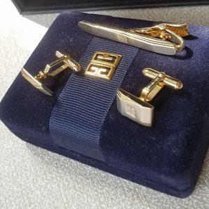 Givenchy Tie Bar/Clip Cufflinks Men's Fine Jewellery Set for Men