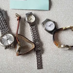 Krone Watch Junk lot of 5 Watches No.A031 For Men Women Unisex Unchecked for Parts or Repair