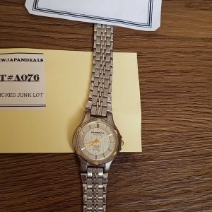 Amano Quartz Watch Quattro Junk lot of 2 Watches No.A076 For Men Women Unchecked for Parts or Repair